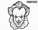 Pennywise Clown Coloring Pages Draw Movie Printable Scary Print Sheets Halloween Adults Template Character Colouring Clowns Creepy Horror Sketch Fun sketch template