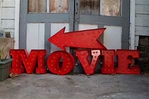 vintage marquee diy With movie marquee letters