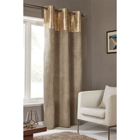 etched metallic faux suede panel    curtains bm