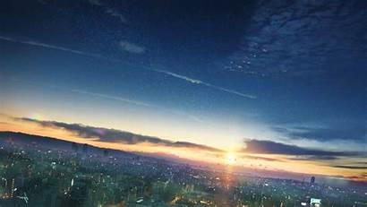 Anime Sky Sunset Cityscape Night Wallpapers Desktop