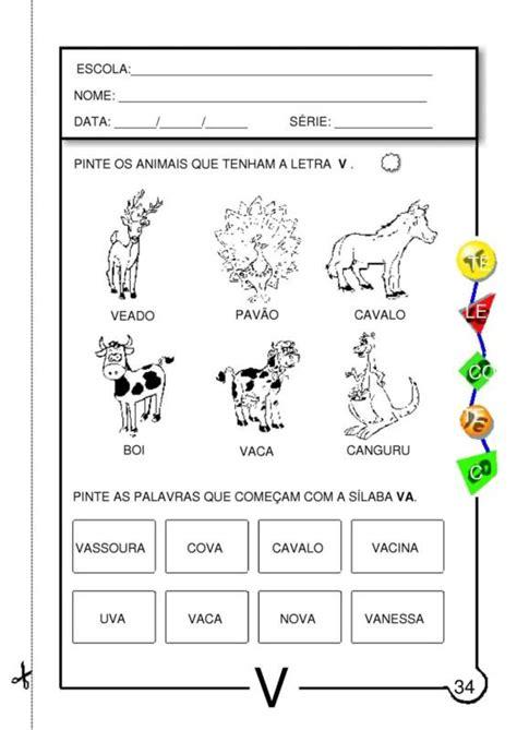 atividades a letra v atividades pedag 243 gicas