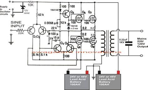 kva  watts pure sine wave inverter circuit en