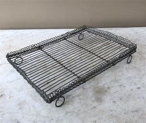 late victorian ornate wire work glass drying rack  cake cooling rack  kitchenalia treen