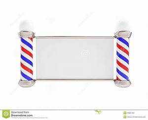 Barber Pole On A White Background Stock Photo - Image ...