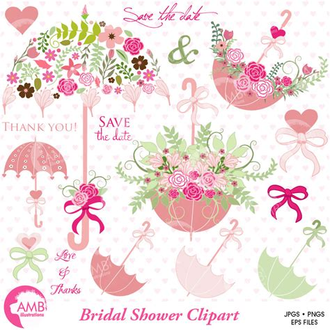 bridal shower clip wedding clipart bridal shower clipart save the date clipart