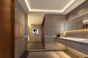 Hotel public toilet indoor lighting design | Download 3D House
