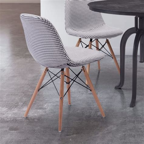 zuo sappy dining chair in houndstooth ebay