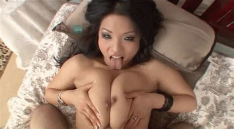 Aroused Asian Brunette Gets Her Big Tits Fucked