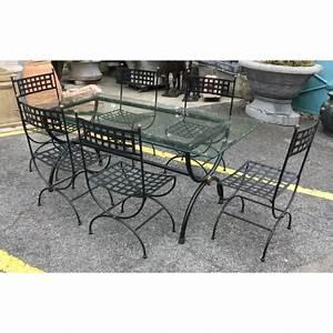 Table De Jardin Fer Forgé : ensemble de jardin table et 6 chaises fer forg sur moinat ~ Louise-bijoux.com Idées de Décoration