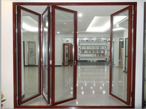 glazed doors design aluminum folding stacker door