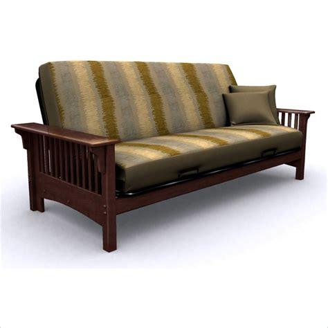Elite Products Santa Barbara Full Wood Walnut Futon Frame