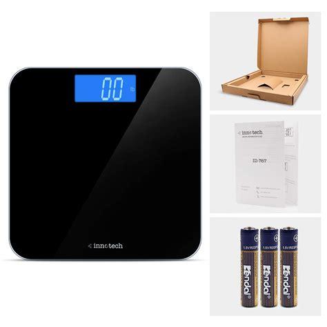 innotech digital bathroom scale id  black
