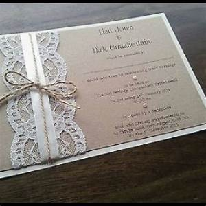Handmade wedding invitations new rustic invitation etsy uk for Handmade wedding invitations supplies