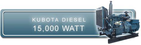 kubota  kw diesel generator