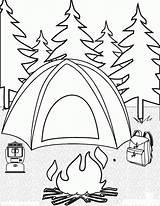 Coloring Camping Printable Popular sketch template