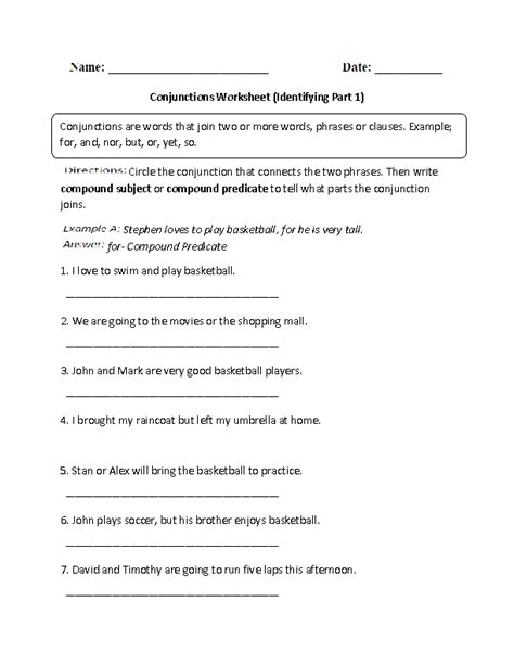 16 best images of identifying subject and verb worksheets