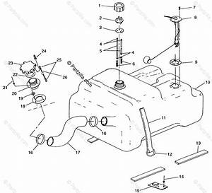 Polaris Watercraft 1995 Oem Parts Diagram For Fuel Tank W