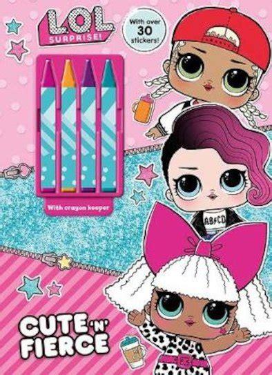 lol surprise cute  fierce sticker book scholastic shop