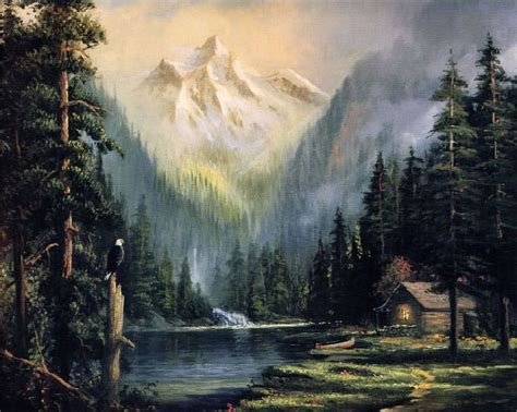 (usa) Keeper Of The Valley By Thomas Kinkade (1958- 2012