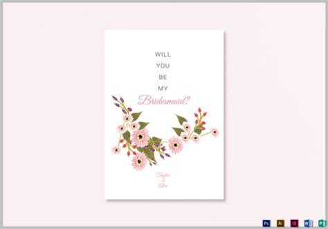 bridesmaid cards editable psd ai indesign format