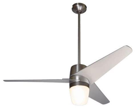 modern velo light ceiling fan 50 quot bright nickel