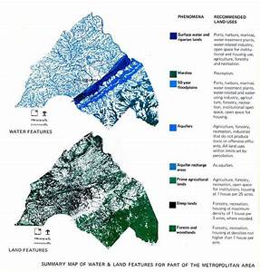 Summary Map Of Water And Land Features For Part Of The