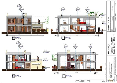 plan villa 3d tunisie maison moderne