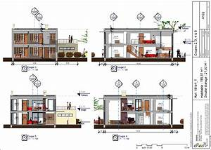 maison moderne r 2 plan de dwg gratuit newsindoco With plan de maison dwg gratuit