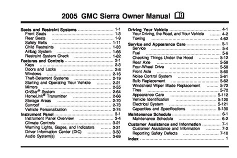 free service manuals online 2005 gmc sierra 2500 electronic toll collection 2005 gmc sierra owners manual just give me the damn manual