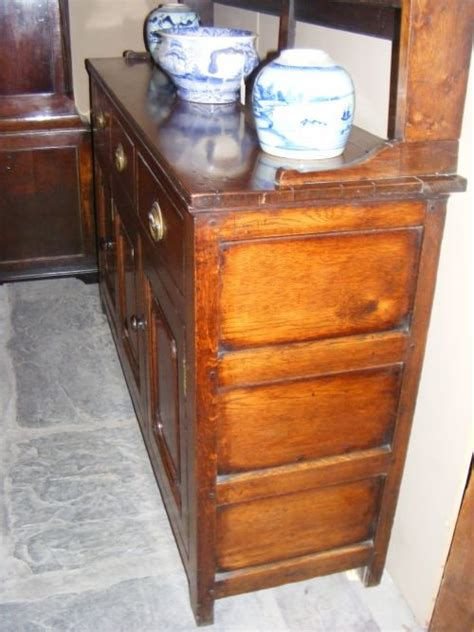 chest and dressers georgian oak dresser with cupboard base c 1790 2153