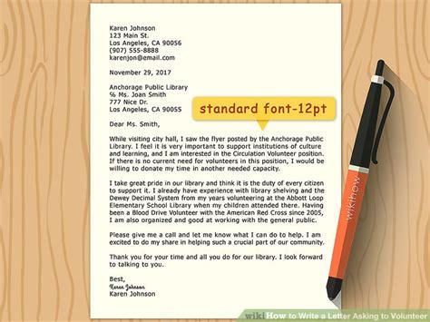 write  volunteer letter volunteer cover letter