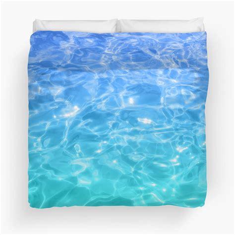 blue teal pool water duvet cover beachlovedecorcom