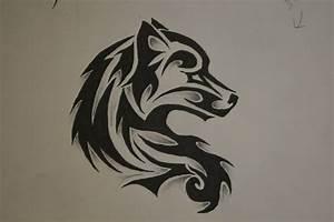 Tribal Wolf Tattoo : tribal wolf tattoo by forever broken92 on deviantart ~ Frokenaadalensverden.com Haus und Dekorationen