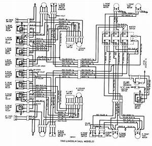 Lincoln  All Models  1965 Windows Wiring Diagram