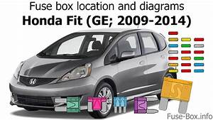 Fuse Box Location And Diagrams  Honda Fit  Ge  2009