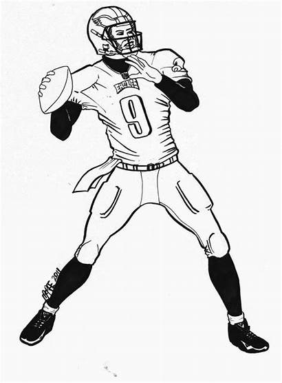 Coloring Nfl Football Pages Player Drawing Jersey