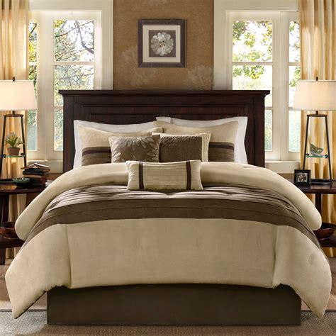 what is a comforter set beautiful 7pc modern brown khaki beige texture comforter set pillows new ebay