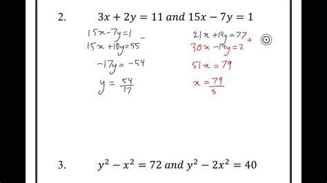 simultaneous equations year  advanced maths  unit