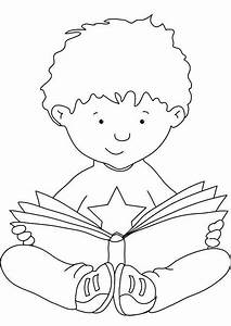 >coloring pages children reading | wallpapersskin