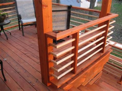 Horizontal Deck Railing Ideas by Horizontal Railing Option Use Metal In Between Ideas