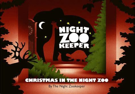 christmas night eve wreath zoo nightzookeeper hangs its