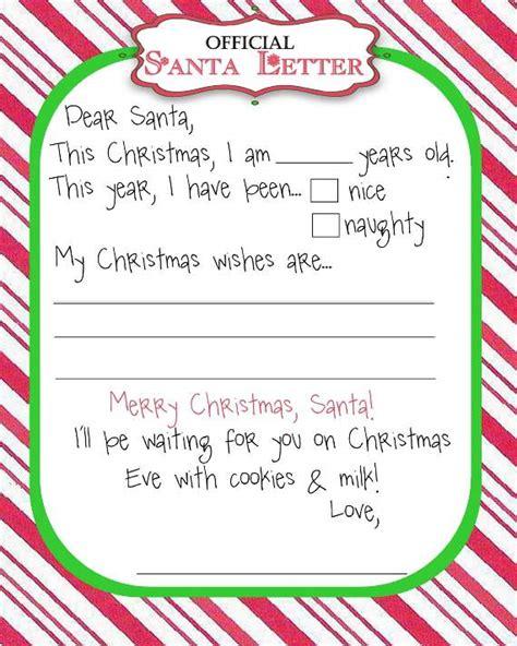 top   blank letters  santa  printable templates