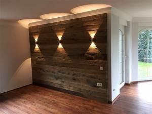 Altholz Eiche Gehackt Wandverkleidung BS Holzdesign