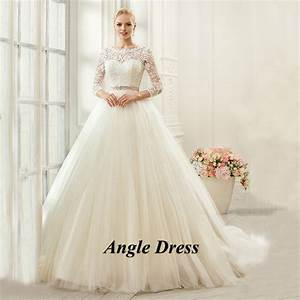 ivory vintage wedding dress long sleeve lace wedding gowns With long sleeve pink wedding dresses
