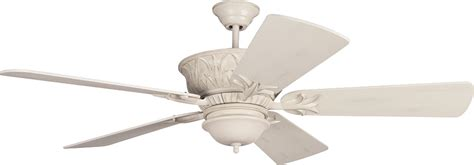 antique white ceiling fan with light craftmade k11245 pavilion antique white distressed indoor
