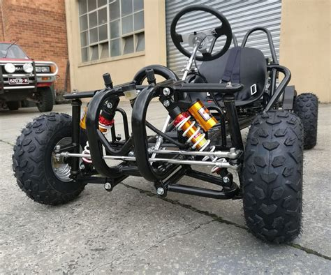 Off Road Go Kart Single Seat Adult 6.5hp 196cc Buggy Quad
