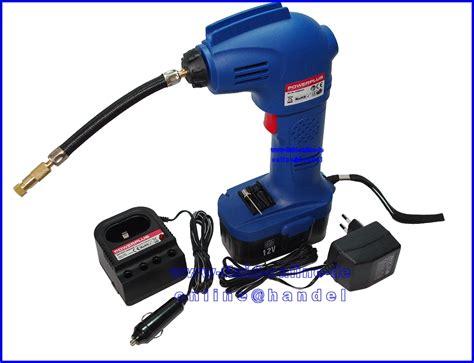 akku kompressor test akku luftpumpe pow5623 elektrische ballpumpe kompressor bis 8bar 230 12 volt neu ebay