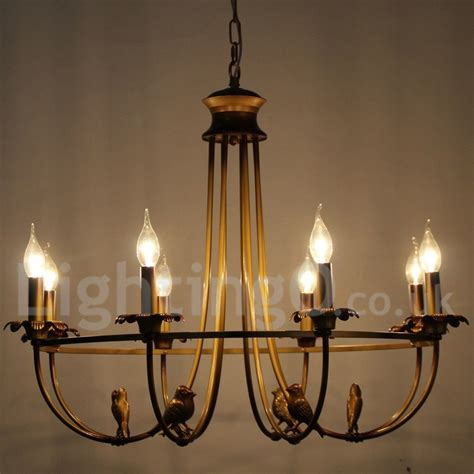 Fashioned Chandelier by 8 Light Rustic Retro Living Room Bedroom Candle Style