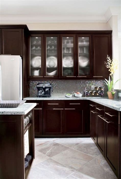 pin  ange  modern home design espresso kitchen cabinets kitchen cabinet design espresso