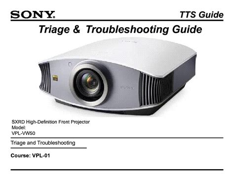 sony vpl vw50 l sony vpl vw50 training manual service manual download
